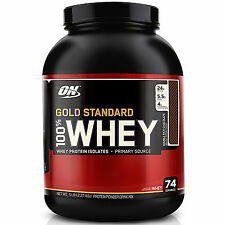 OPTIMUM NUTRITION GOLD STANDARD 100% WHEY PREMIUM PROTEIN POWDER DRINK SHAKE ON