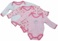Baby Girls Long Sleeve Onesies Pink Newborn Infant Size 0-12 Months Pack Of  3