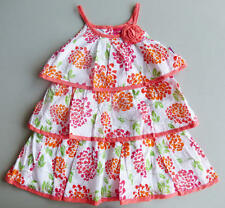 PENNY M Toddler Girls' 2T, 4T Orange Floral Swiss Dot Dress *NWT