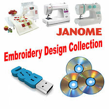 150,000 JEF Janome Machine Embroidery Designs DVD or USB