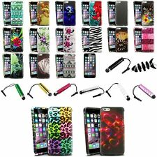 Colorful Rubberized Case+Mini pen+Clear Protector+Wrap For iPhone 6 Plus 5.5