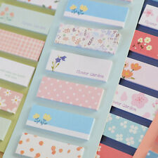 Colour Flower Floral Pattern Paper Adhesive Sticky Notes Pads Index Bookmark