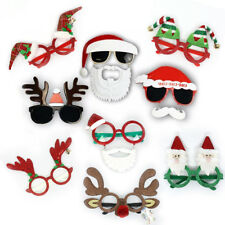Christmas Santa Reindeer Party Costume Sunglasses XMAS Unisex Adults Kid Glasses