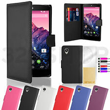 Wallet PU Leather Case Cover For LG Google Nexus 4 / 5  Screen Protector +Stylus