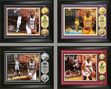 "Choose Your NBA Player 13 x 16"" Framed Gold or Silver Medallion Coin Photo Mint"