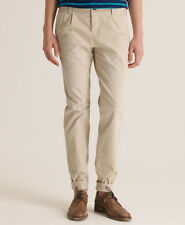 New Womens Superdry Classic Chino Trousers Stone Beige AB