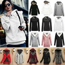 Femme Veste Hoodies chaud Manteau pull-over Jacket Coats Sweater convertible col
