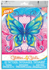 Glitter 4 Girls Temporary Tattoos (Purchase 1, 2, 5 or 10 Packets)