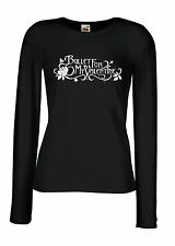 BULLET FOR MY VALENTINE LOGO Lady Long Sleeve Black T-shirt Woman Rock Band