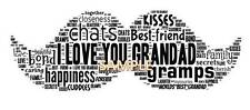PERSONALISED DAD GRANDAD MOUSTACHE WORDART PRINT XMAS BIRTHDAY GIFT Fathers Day