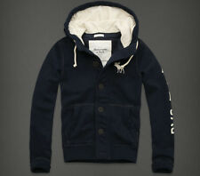 2014 Mens Abercrombie & Fitch Hollister Hoodie Navy Jacket Top Jumper S M L XL