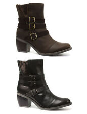 New Hush Puppies Rustique Black Womens Ankle Boots ALL SIZES AND COLOURS