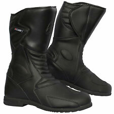 Winter Motorbike Black Waterproof Motorcycle Touring Leather Boots