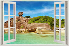 GIANT Tree Beach Removable Wall Sticker Decal Home decor island 3D Window View