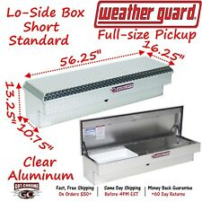 174-0-01 Weather Guard Aluminum Lo-Side Mount L-Shape Truck Tool Box - 56""