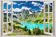 3D Beach Wall Stickers Vinyl Decal Home Decor Deco Art DIY Window View Removable