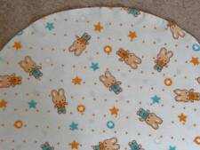BASSINET SHEET/ FLANNEL / BUNNIES AND STARS IN PINK AND BLUE