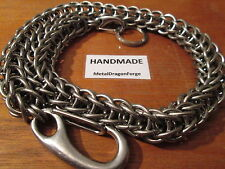 """16-22"""" Stainless Steel Chainmail Full Persian Wallet Chain Necklace Biker Heavy"""