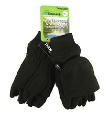 Men's Black Thermal Coverter Gloves, Thinsulate Water Proof & Windproof Gloves