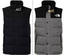 NEW MEN'S NORTH FACE TWEED NUPTSE HEIGHTS VEST 2014 NEW ARRIVAL BLACK GREY CX56