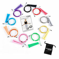 Ultra Adjustable Jump Rope Crossfit Ultra Wire Skipping Cable Speed by RitFit