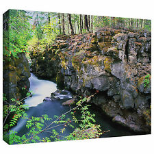 Dean Uhlinger 'Rogue River Gorge' Gallery-wrapped Canvas