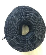 Black nylon 3 strand rope, moorings, anchors, boats, builders, Outdoors, Garage