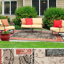 Meticulously Woven Janelle Contemporary Floral Indoor/Outdoor Area Rug (6' x 9')