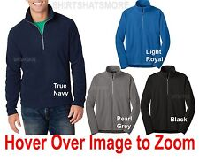 Mens Polar Microfleece 1/2 Zip Pullover Sweater Open Bottom Jacket XS-2X 3XL 4XL