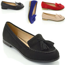 New Ladies Tassel Loafers Womens Casual Vintage Flats Work Office School Shoes