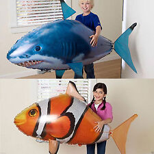 Remote Control RC Inflatable Balloon Air Swimmer Flying Nemo Shark Fish Toys