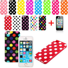 Polka Dot Pattern TPU Rubber Soft Case Cover Skin For iPhone 5 5G 5S        la