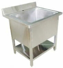 Stainless Steel Pot Wash Kitchen Sink Single / Double bowl Commercial Restaurant