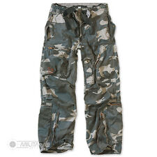 SURPLUS INFANTRY CARGO TROUSERS RAW VINTAGE CARGO COMBAT PANTS MIDNIGHT CAMO