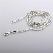 BOX sterling silver Chain necklace 16 TO 30 INCHS KK11