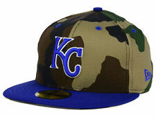 Official MLB Kansas City Royals Camo Team Pop New Era 59FIFTY Hat Fitted
