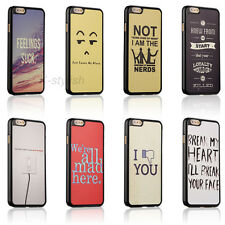 Quirky Cute Funny Quotes Hard Case Skin Cover For Apple iphone 4 4s 5 5c 5s SE