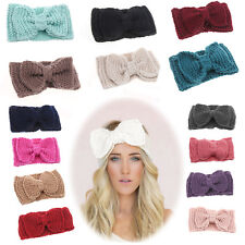 Fashion Women Ladies Bow Crochet Headband Knit Headwrap Ear Warmer Hairband