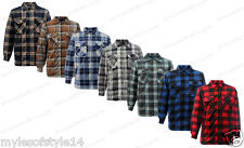 New Padded Lumberjack Fleece Fur Zip Checked Mens Casual Work Shirt Jacket Top