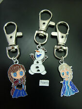 A Girl's Frozen Disney Charm Keyring, Key Chain, Handbag Bag Charm, Zip puller