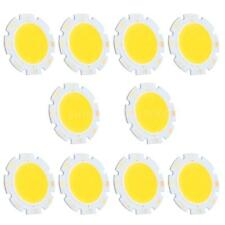 10 x 2.8CM 3W Round COB Bright LED Chip Bulb Lamp Pure/Warm White Light DC9-12V