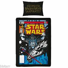 STAR WARS DUVET COVER & PILLOW CASE BED SET 'SITH' KIDS CARTOON REVERSIBLE