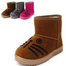 Winter Warm Boys Girls Cotton Shoes Kids Toddler Mid-calf Ankle Snow Boots TX181