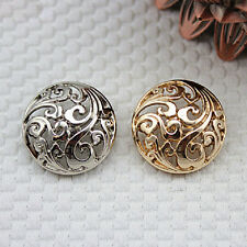 5 Pcs High-grade Metal Hollow Decoration Buttons 15mm-25mm for Suit Coat Jacket
