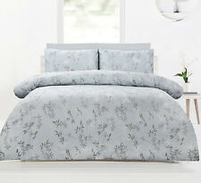 Accessorize Lorient Pale Green Woven Jacquard Quilt Doona Cover Set - QUEEN KING