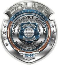 POLICE BADGE OF HONOR DECAL