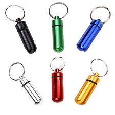 Waterproof Airtight Pill Fob Box Capsule Cash clip Aluminum Stash Case Keychain