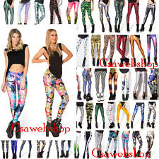 New 3D Graphic Printed Womens Skinny Leggings Disney Cartoon Funny Galaxy Pants