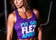 New Womens Muscle Club I'VE GOT FLEX APPEAL Workout Gym Lifting Racerback Purple