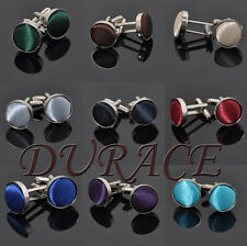 Hot Design Men's Multicolor Flannel Gifts  Smooth Round Elegant Alloy Cuff Links